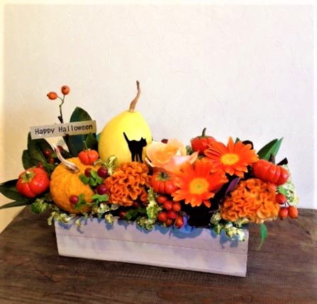 秋のお祝いアレンジ⑤