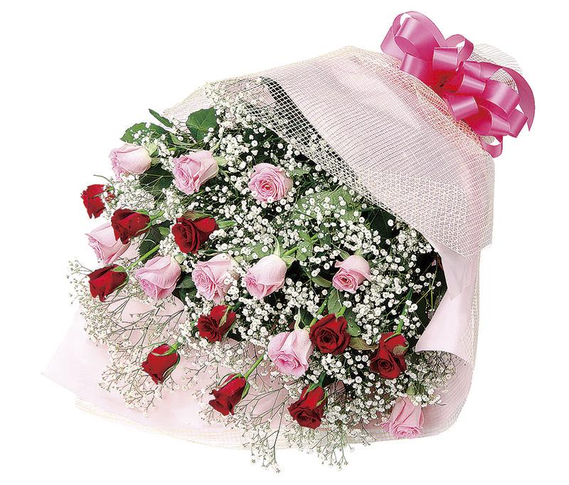 バラのミックス花束