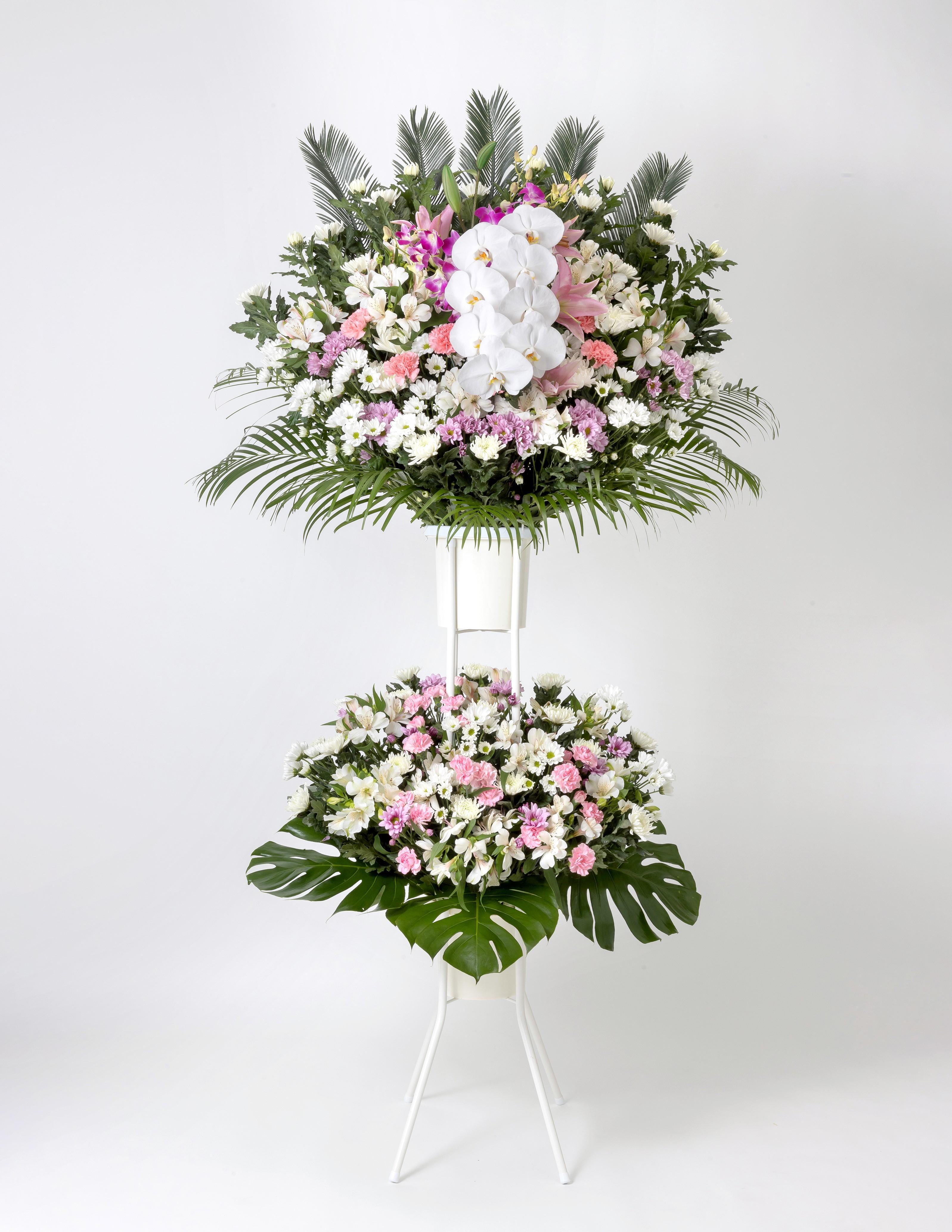 葬儀用 供花スタンド2段